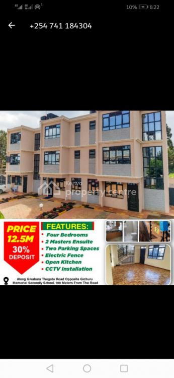 4 Bedroom Villas 2 Ensuite Plus Sq  in Gikambura Kikuyu., Gikambura,kikuyu 300m From Tarmac Rd, Kikuyu, Kiambu, House for Sale