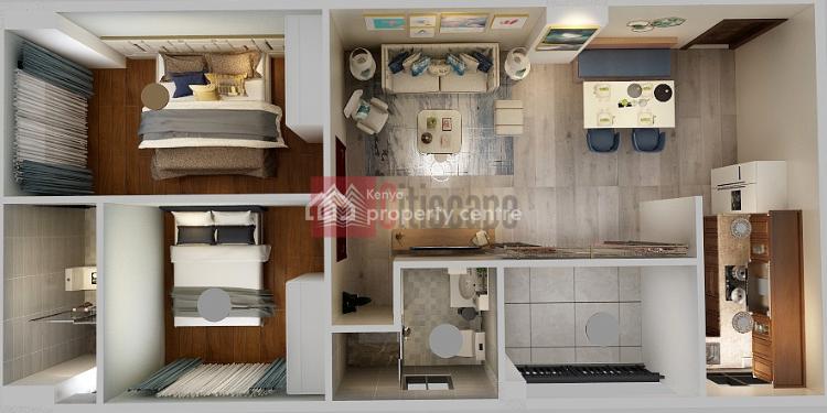 Splendid 1 Bed Plus Study Room, Lavington, Nairobi, Flat for Sale