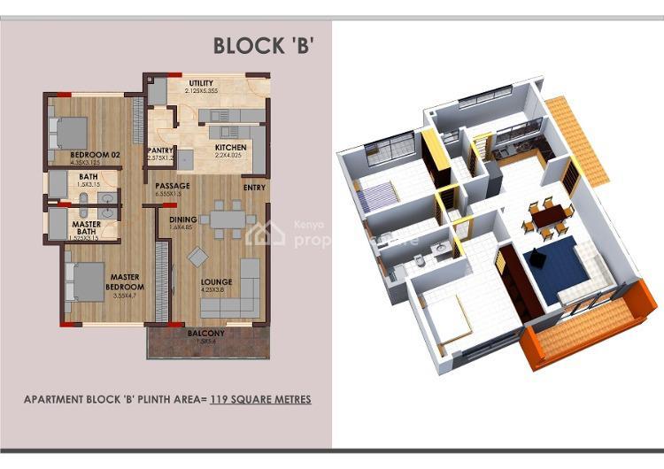 Dwarkesh : 2 Bedroom Apartment, Maasari Road, Parklands, Nairobi, Flat for Rent