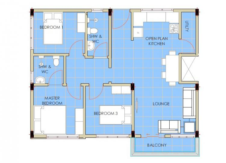 Built-up Area 3 Bedrooms Apartment (1085 Sqft), Off Mombasa Road, Athi River, Machakos, Flat for Sale