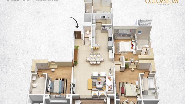 Luxury 4 Bedrooms Apartments, on Limuru Road, Overlooking Muthaiga, Parklands, Nairobi, Flat for Sale