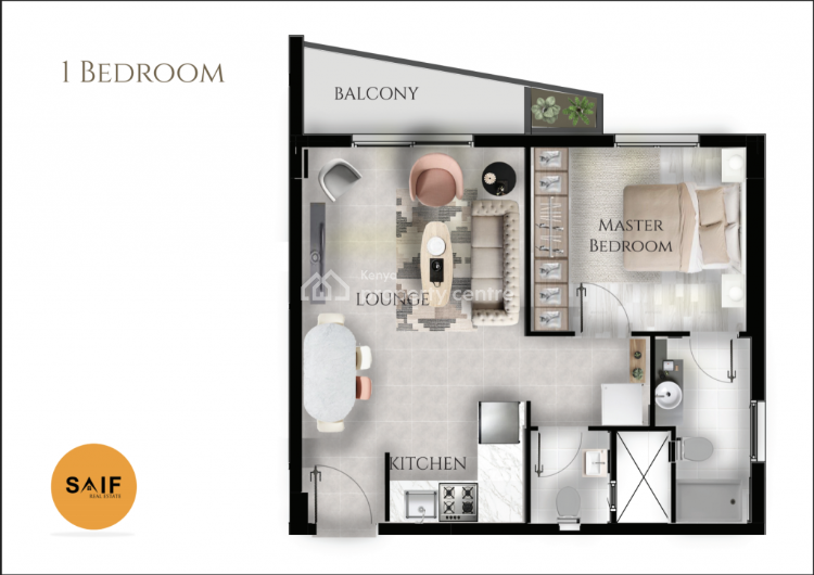 1 Bedroom in an Ideal Location in Kileleshwa, Othaya Road, Kileleshwa, Nairobi, Flat for Sale