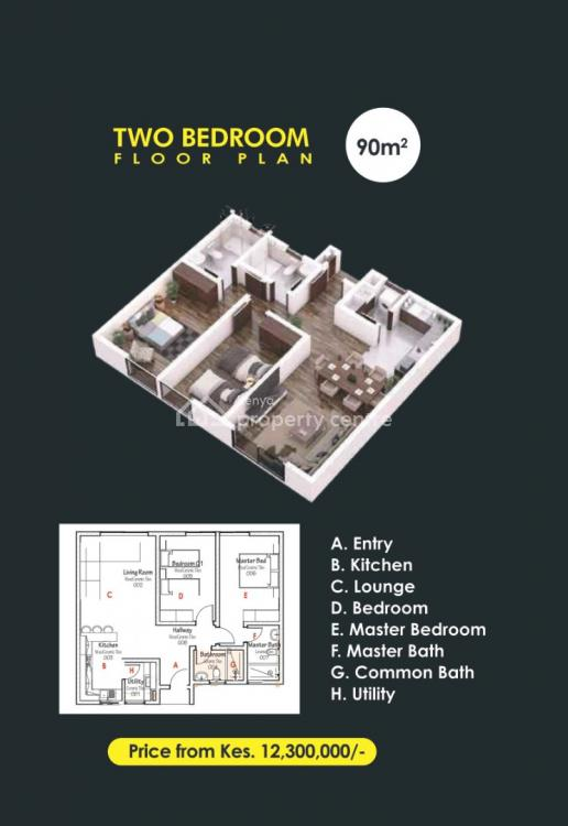 2 Bedroom Apartments Ideal for Investment, Runda, Westlands, Nairobi, Apartment for Sale