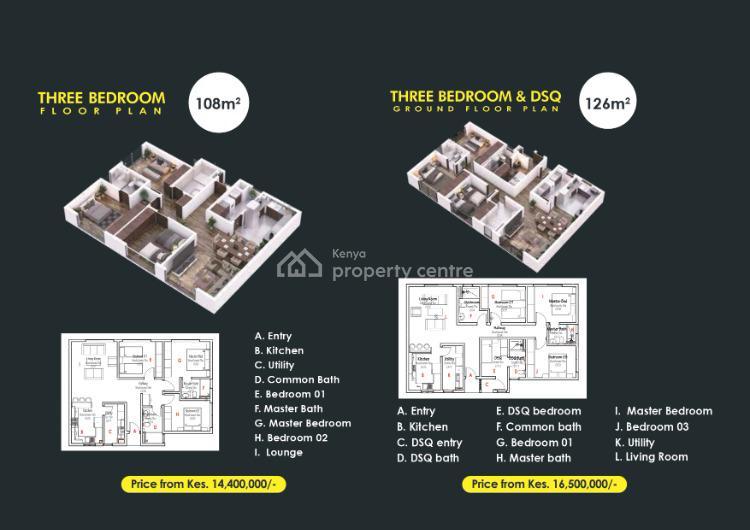 3 Bedroom Apartments, Runda, Westlands, Nairobi, Apartment for Sale