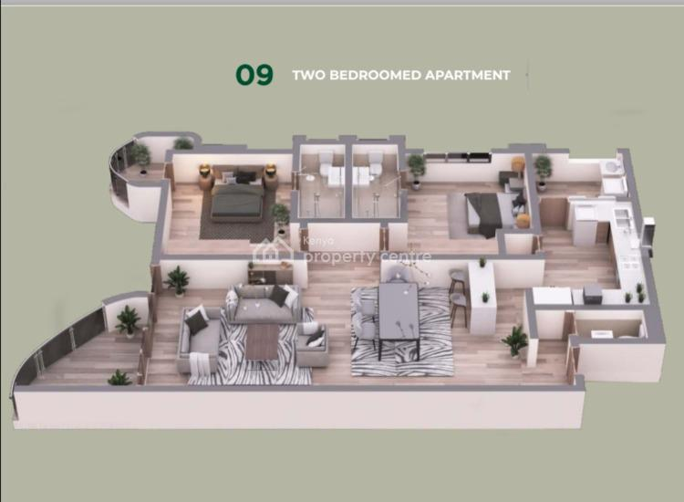 Modern 3 Bedroom Apartment Dsq 2 Balconies in Kirichwa Rd Kilimani, Kirichwa Road, Kilimani, Nairobi, Apartment for Sale