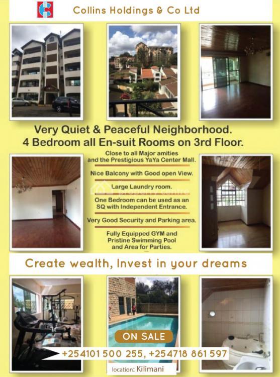 4 Bedroon Ensuit Apartment, Kilimani, Kilimani, Nairobi, Mini Flat for Sale