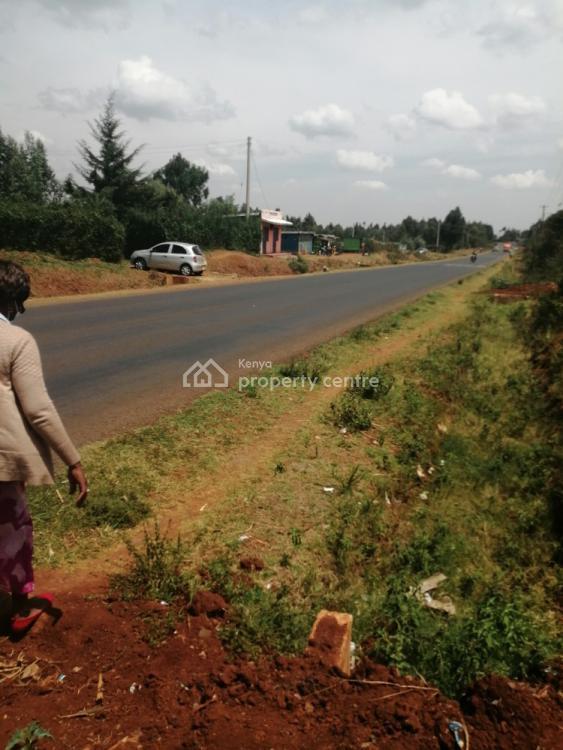 Prime Slightly Bigger Eighth Touching Tarmac in Kamangu Kikuyu., Kamangu, Kikuyu Touching Thogoto Mutarakwa Road, Thigio, Kikuyu, Kiambu, Land for Sale