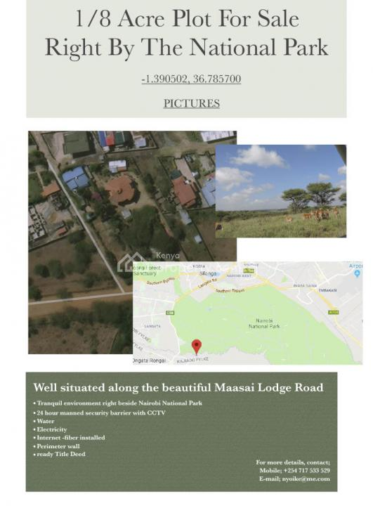 1/8 Acre Plot on Masai Lodge Road. Developed and Secure Suburb., Masai Lodge Road, 648., Ongata Rongai, Kajiado, Residential Land for Sale