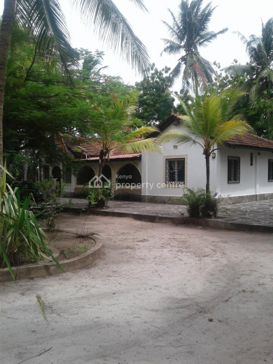 3br Bungalow in Kanamai on 2acre Plot Second Row From The Beach, Off Malindi Mombasa Highway, Mtwapa, Kilifi, House for Sale