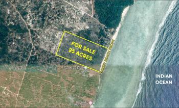 25 Acres of Land, South Coast, Tiwi Beach, Tiwi, Kwale, Land for Sale